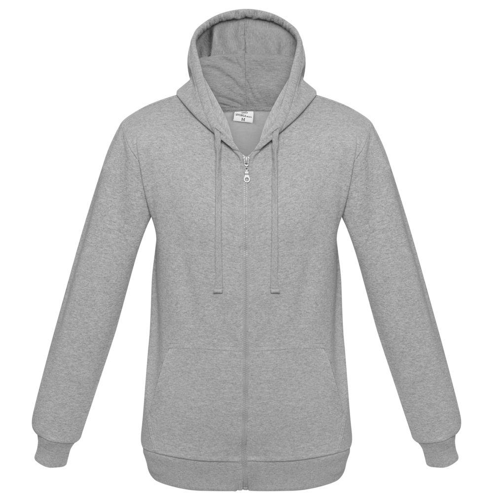цена Толстовка на молнии с капюшоном Unit Siverga Heavy серый меланж, размер 4XL онлайн в 2017 году