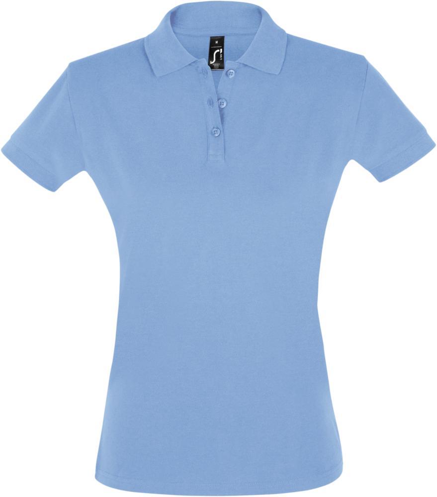 Рубашка поло женская PERFECT WOMEN 180 голубая, размер S рубашка поло женская perfect women 180 серый меланж размер s