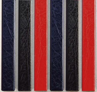 Цветные каналы с покрытием «кожа» O.CHANNEL Mundial А4 304 мм Mini, черные фото