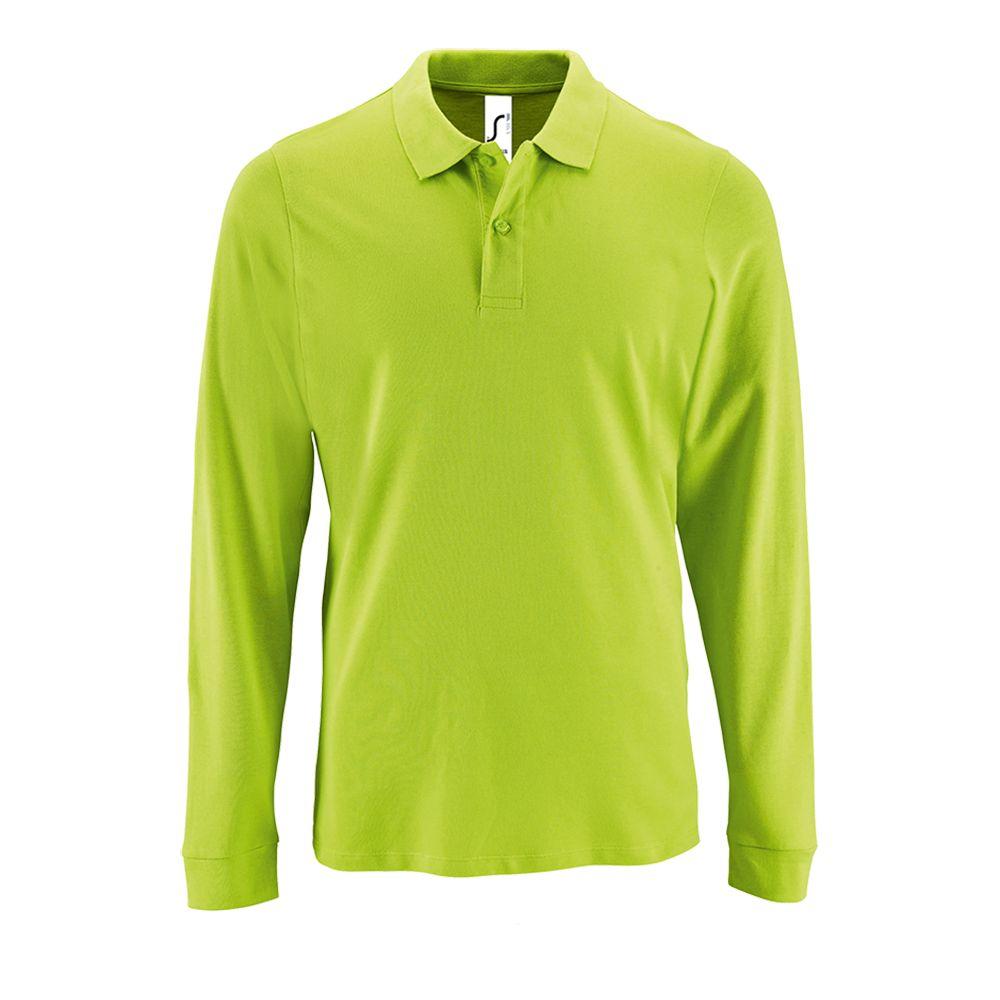 Рубашка поло мужская с длинным рукавом PERFECT LSL MEN зеленое яблоко, размер M рубашка поло мужская с длинным рукавом perfect lsl men зеленое яблоко размер s