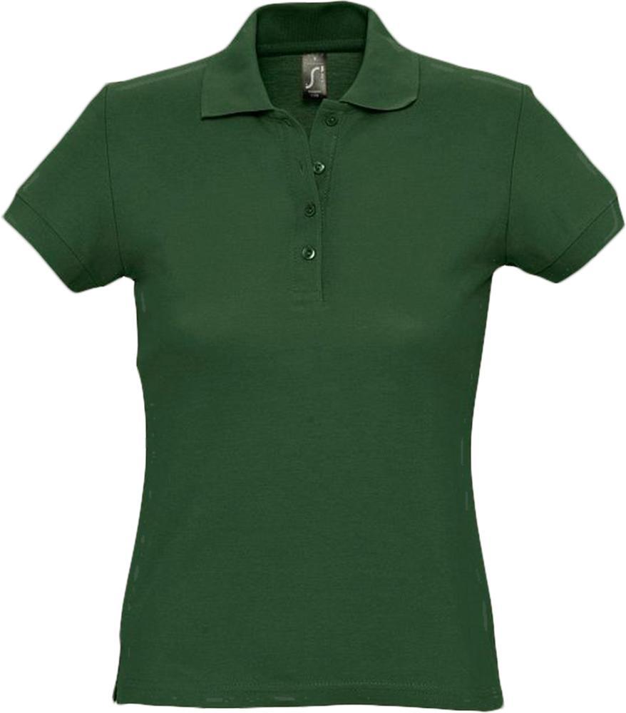 цена Рубашка поло женская PASSION 170 темно-зеленая, размер XL онлайн в 2017 году