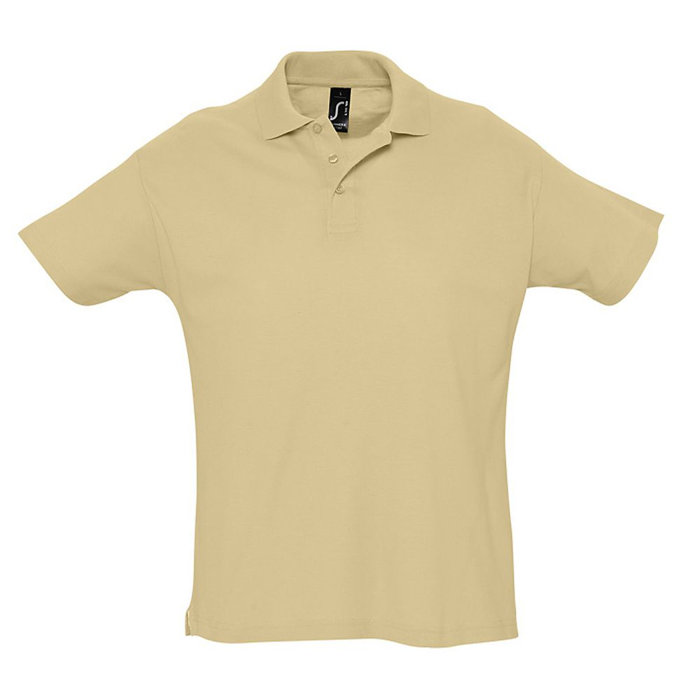 Рубашка поло мужская SUMMER 170 бежевая, размер S