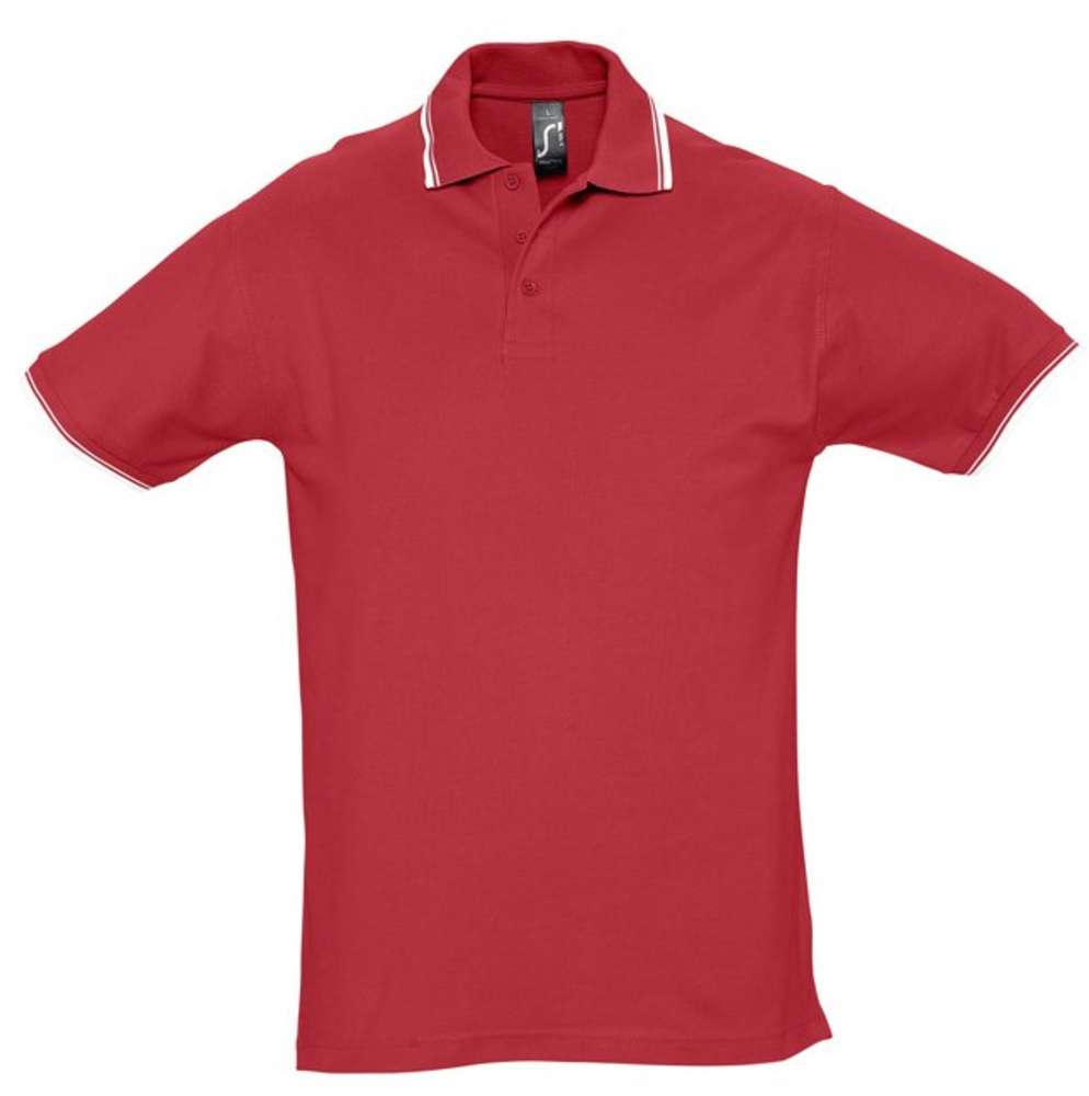 цена на Рубашка поло мужская с контрастной отделкой PRACTICE 270, красный/белый, размер M