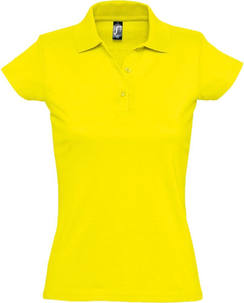 Рубашка поло женская Prescott women 170 желтая (лимонная), размер XXL фото