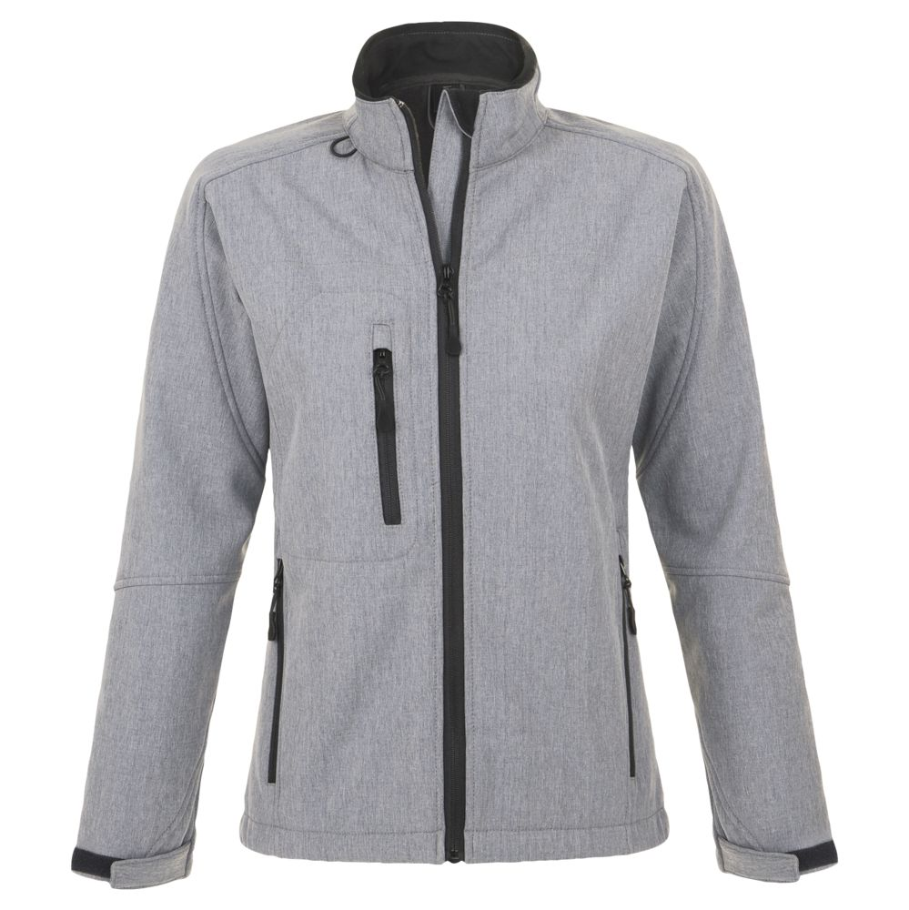 Куртка женская на молнии ROXY 340, серый меланж, размер XXL