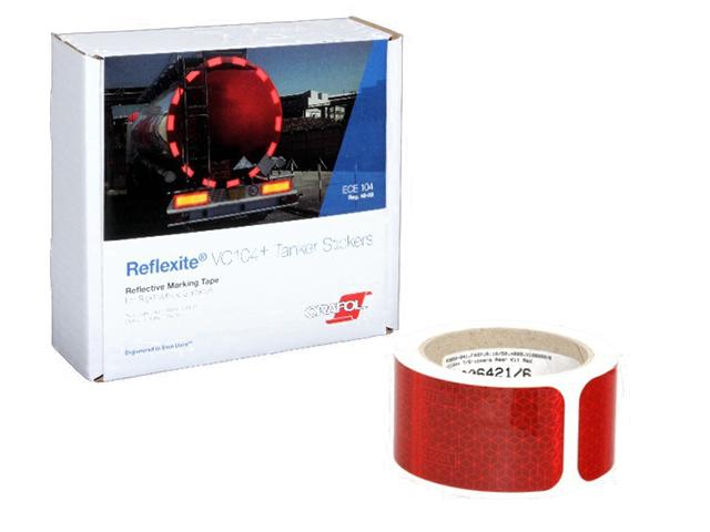 Oralite/Reflexite VC104+ Tanker Stickers для жесткого борта, для цистерн, красная 0.05x10 м oralite reflexite vc104 rigid grade commercial для жесткого борта желтая 0 05x50 м
