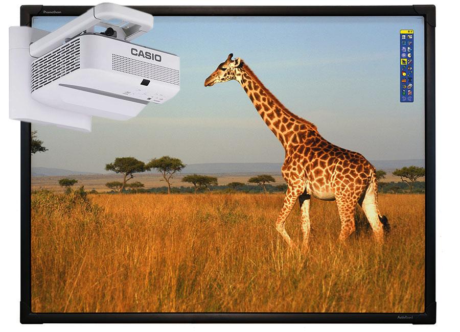 Фото - Интерактивная доска Promethean ActivBoard Touch 78 Dry Erase 10 касаний, ПО ActivInspire в комплекте с проектором Casio XJ-UT331X и настенным креплением YM-81 casio ae 1300wh 1a2