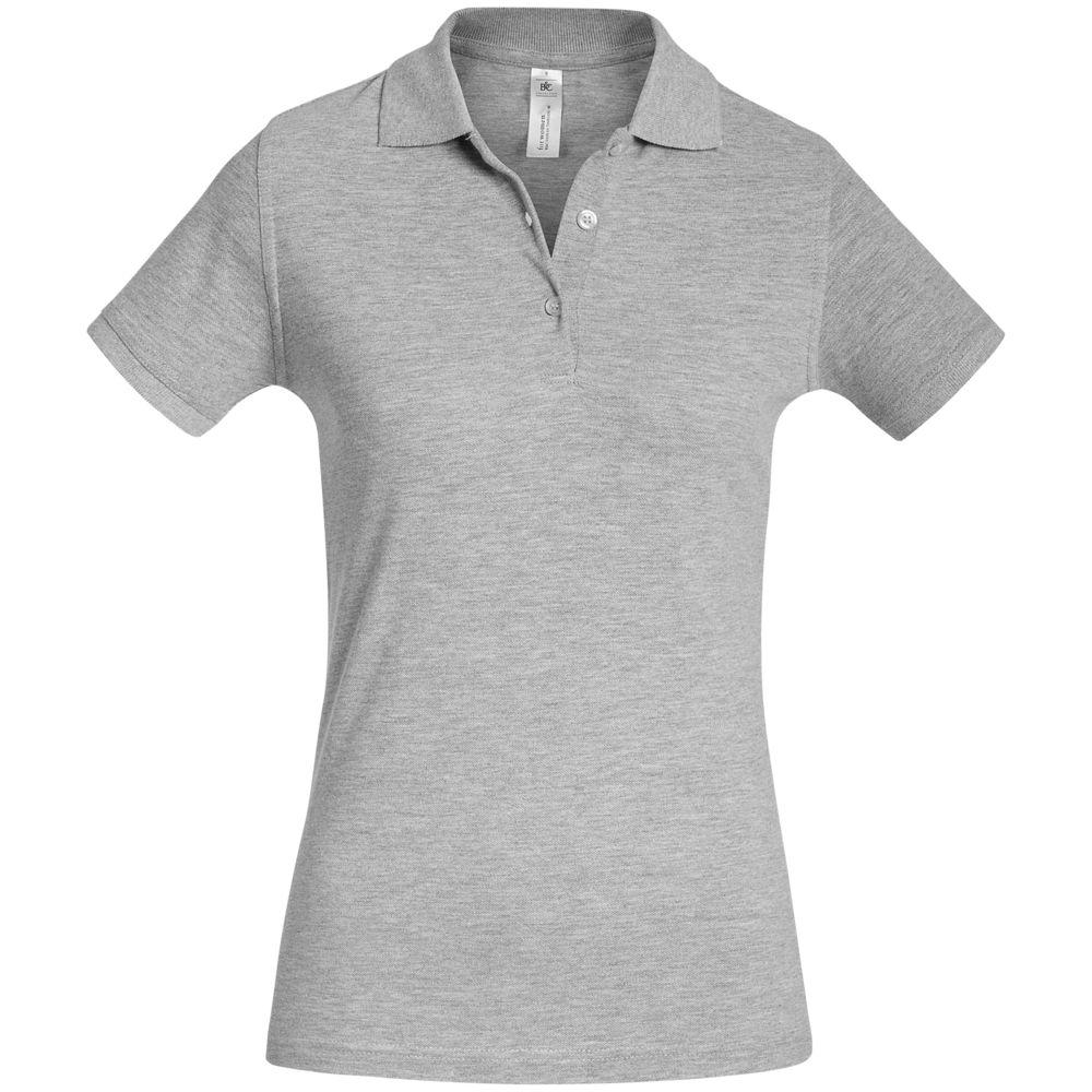 Рубашка поло женская Safran Timeless серый меланж, размер M