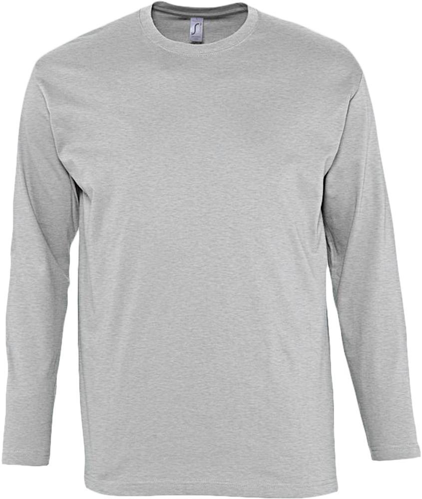 Футболка мужская с длинным рукавом MONARCH 150 серый меланж, размер S недорого