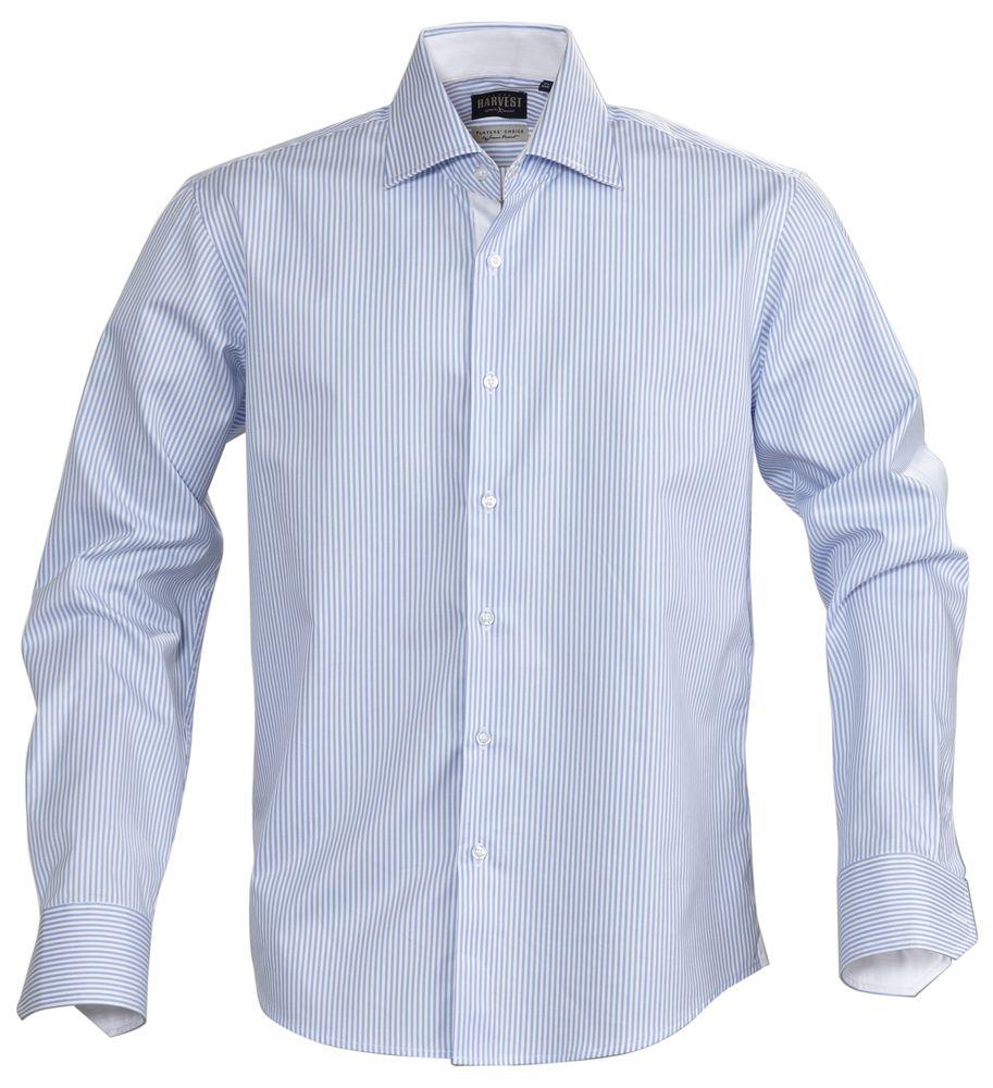 Рубашка мужская в полоску RENO, голубая, размер M фото