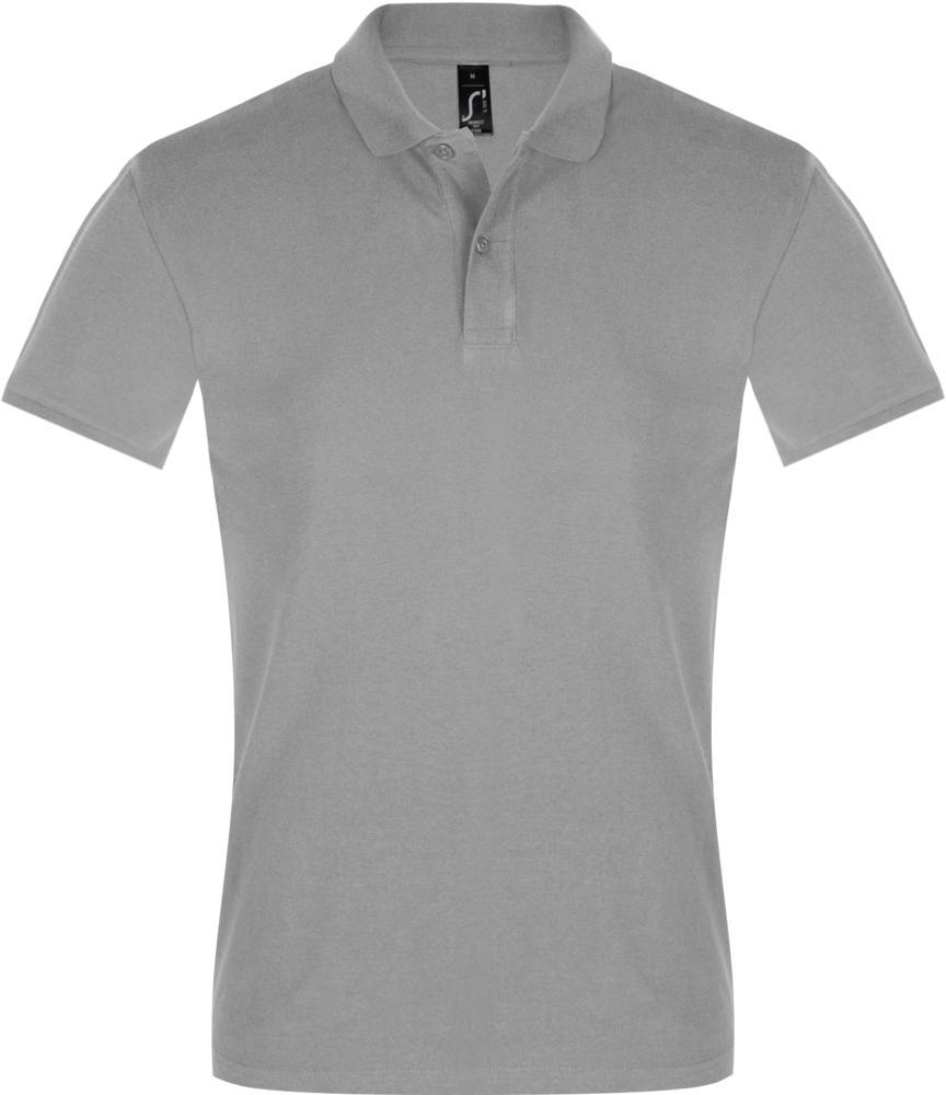 Рубашка поло мужская PERFECT MEN 180 серый меланж, размер S фото