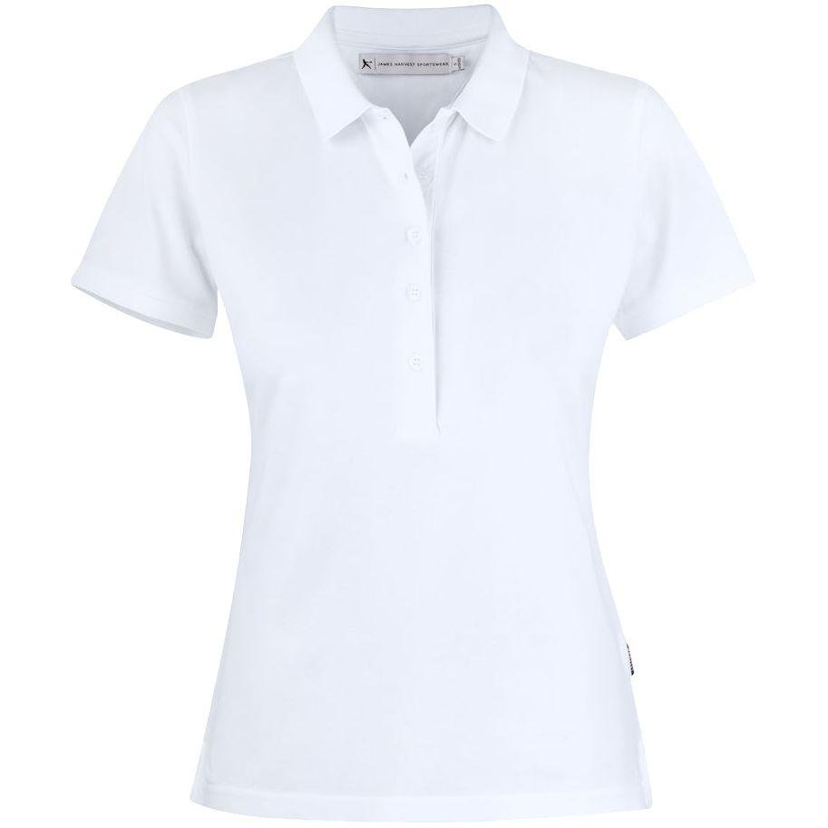 Рубашка поло женская Sunset белая, размер L