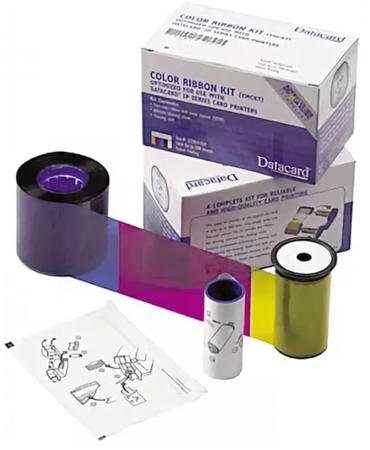 Набор для печати: полноцветная лента YMCKT, чистящий ролик и карта Datacard 534700-004-R010 datacard half panel color ribbon 534000 004 ymckt for sd260 sp75 card printer