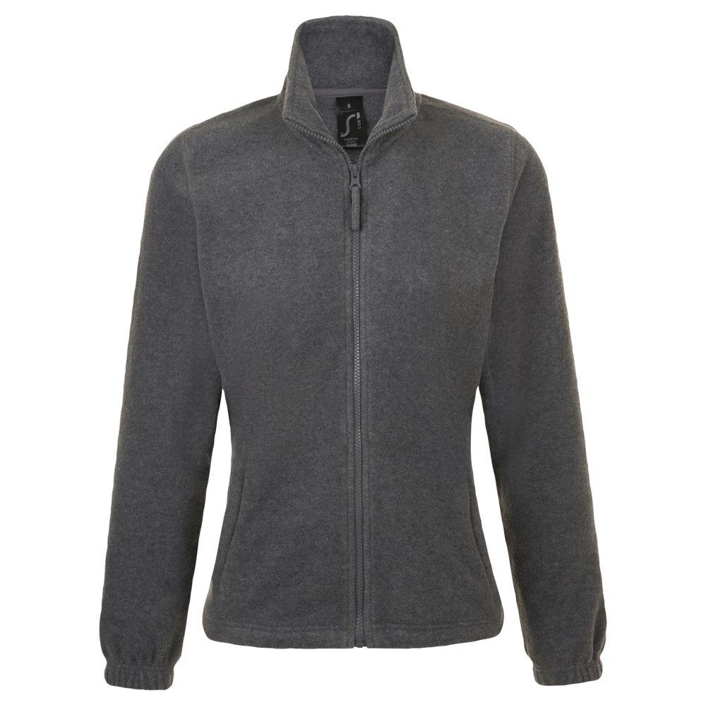 Куртка женская North Women, серый меланж, размер L куртка женская north women коричневая размер l