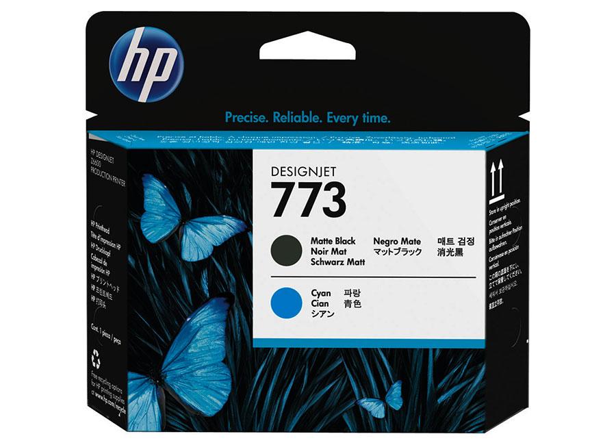 Печатающая головка HP №773 Designjet Matte Black & Cyan (C1Q20A) бур sds plus bosch 4 0x50x115мм 10шт 2 608 585 610
