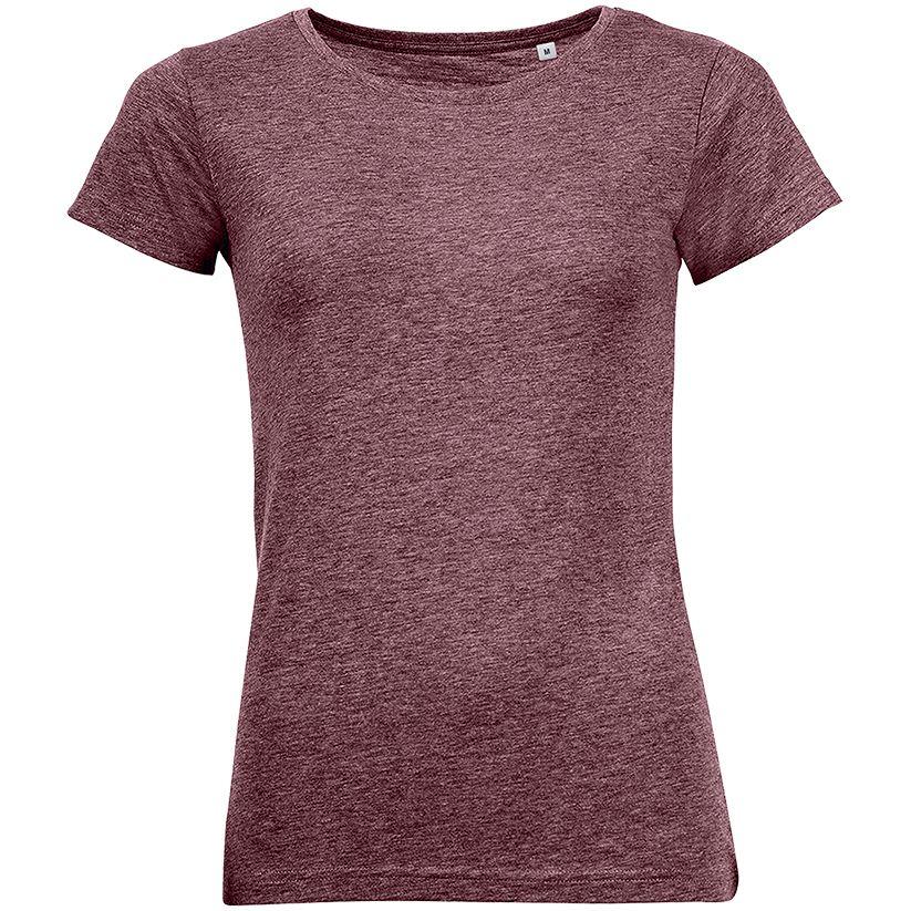 Футболка женская MIXED WOMEN бордовый меланж, размер S