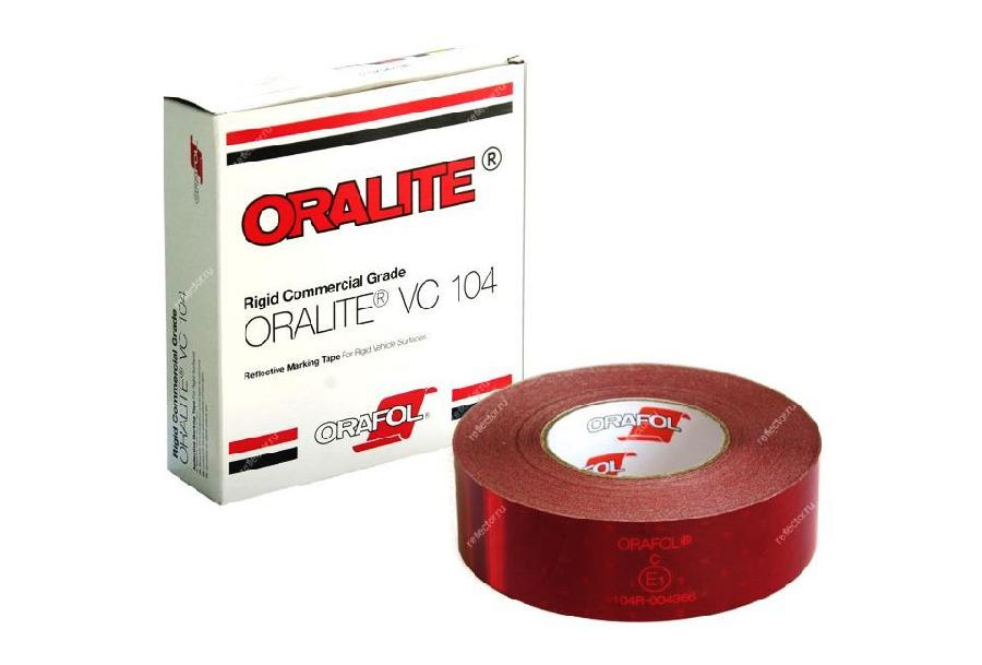 Oralite/Reflexite VC104 Rigid Grade Commercial для жесткого борта, красная 0.05x50 м oralite reflexite vc104 rigid grade commercial для жесткого борта желтая 0 05x50 м