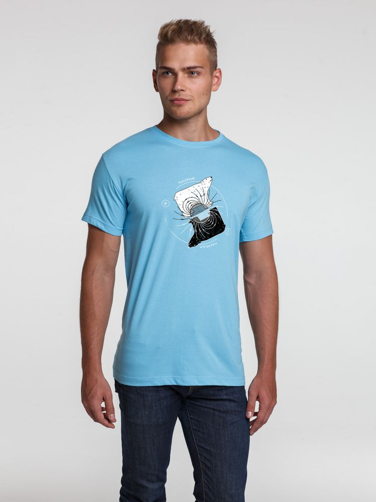 Фото - Футболка «Полярные медведи», голубая, размер M полярные медведи
