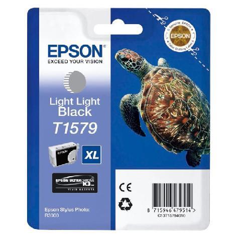 Фото - Картридж со светло-серыми чернилами Epson T1579 (C13T15794010) кордщетка dexx 35108 075 дисковая со шпилькой жгутированные пучки сталь0 5мм d75мм