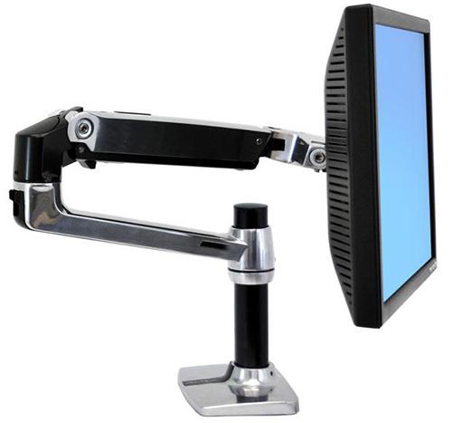 Настольное крепление для монитора ручного типа с высокой трубой LX серебро (45-241-026) lx 45 247 026