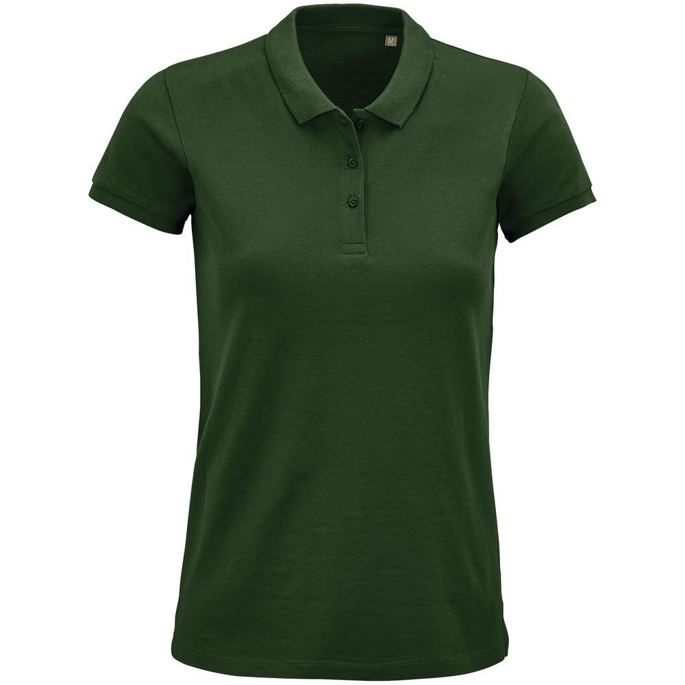 Рубашка поло женская Planet Women, темно-зеленая, размер 3XL рубашка поло мужская planet men темно зеленая размер 3xl
