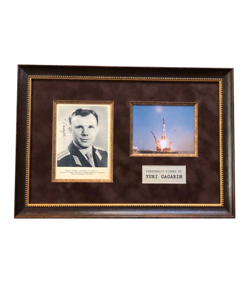 Фото с автографом Юрия Гагарина фото с автографом одри хэпберн