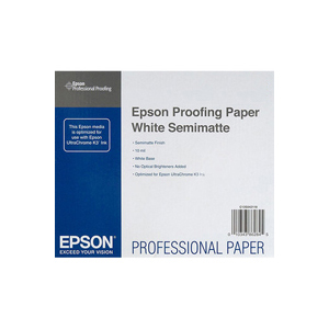 Epson Proofing Paper White Semimatte 17 250 г/м2, 0.432x30.5 м, 50.8 мм (C13S042003) proofing paper commercial 17 432мм х 30 5м 195 г м2 c13s042145