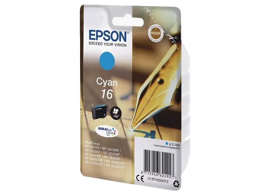 Фото - Картридж с голубыми чернилами Epson C13T16224012 картридж с голубыми чернилами epson t0342 для sp2100 c13t03424010