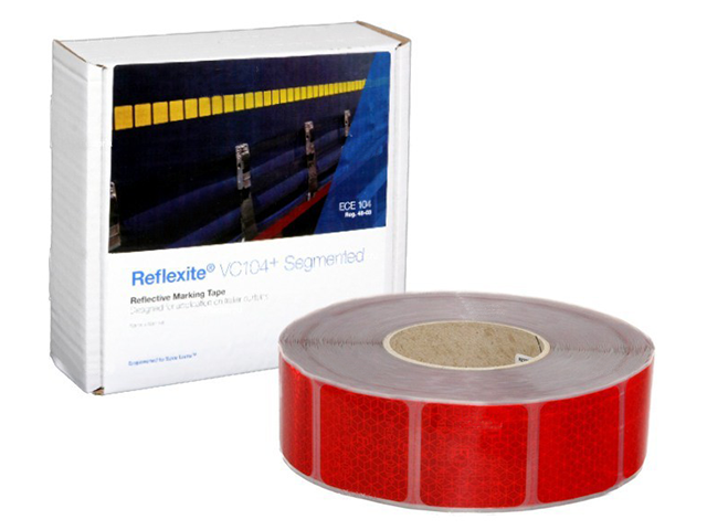 Фото - Oralite/Reflexite VC104+ Curtain Grade Segmented для мягкого тента, сегментированная, красная 0.05x50 м oralite reflexite vc104 tanker stickers для жесткого борта для цистерн белая 0 05x10 м