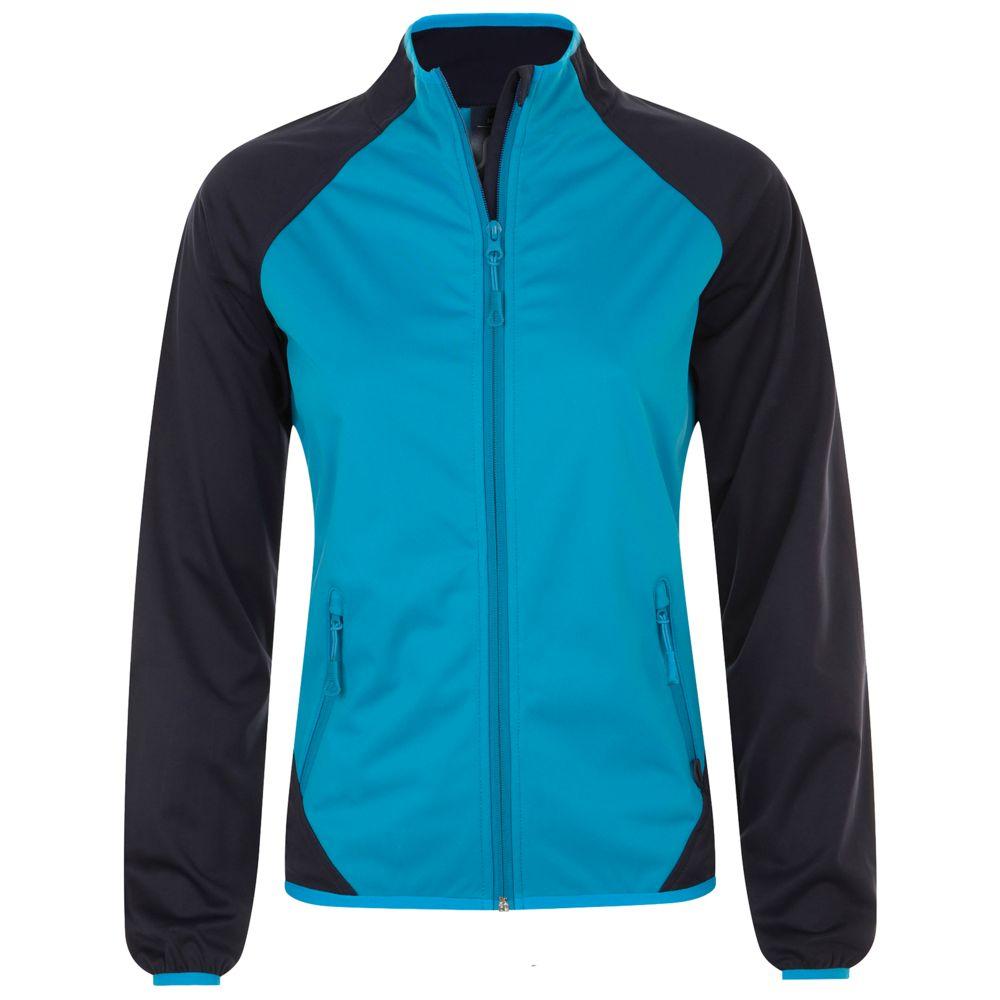 цена Куртка софтшелл женская ROLLINGS WOMEN бирюзовая с темно-синим, размер XL онлайн в 2017 году