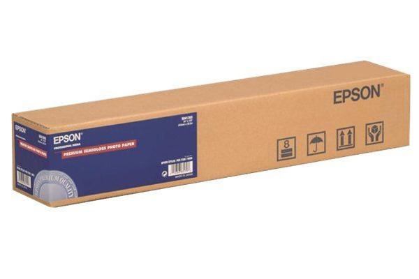 Premium Semigloss Photo Paper 44, 1118мм x 30.5м (166 г/м2) (C13S041395) бумага epson c13s041330 premium semiglossy photo paper 100 8m 251г м2