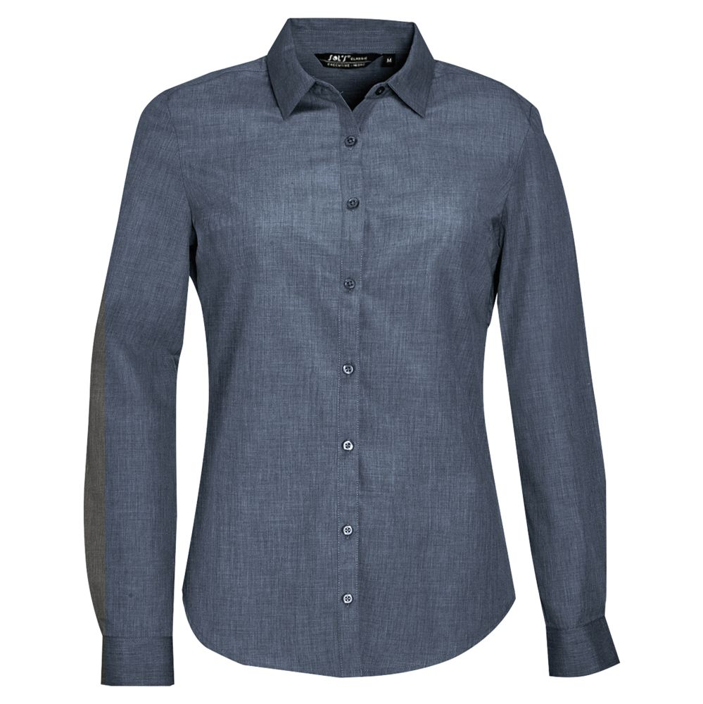 Рубашка BARNET WOMEN синий меланж (джинс), размер S фартук craft синий джинс
