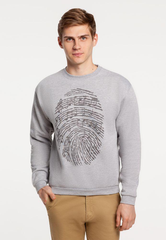 Толстовка «Код вселенной», серый меланж, размер S