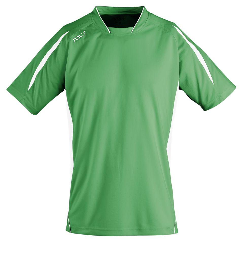 Футболка спортивная MARACANA 140, зеленая с белым, размер M спортивная футболка other 98 m xxl nk free5 0 522990 489
