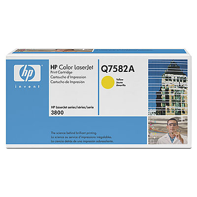 Тонер-картридж HP 503A Q7582A картридж hp q7582a для принтеров hp color laserjet 3800 желтый 6000 страниц