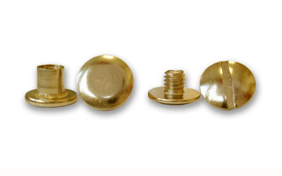 Фото - Болты металлические высота ножки 6 мм, золото,100 шт. valiant набор ковриков жирафик на присосках 6 шт