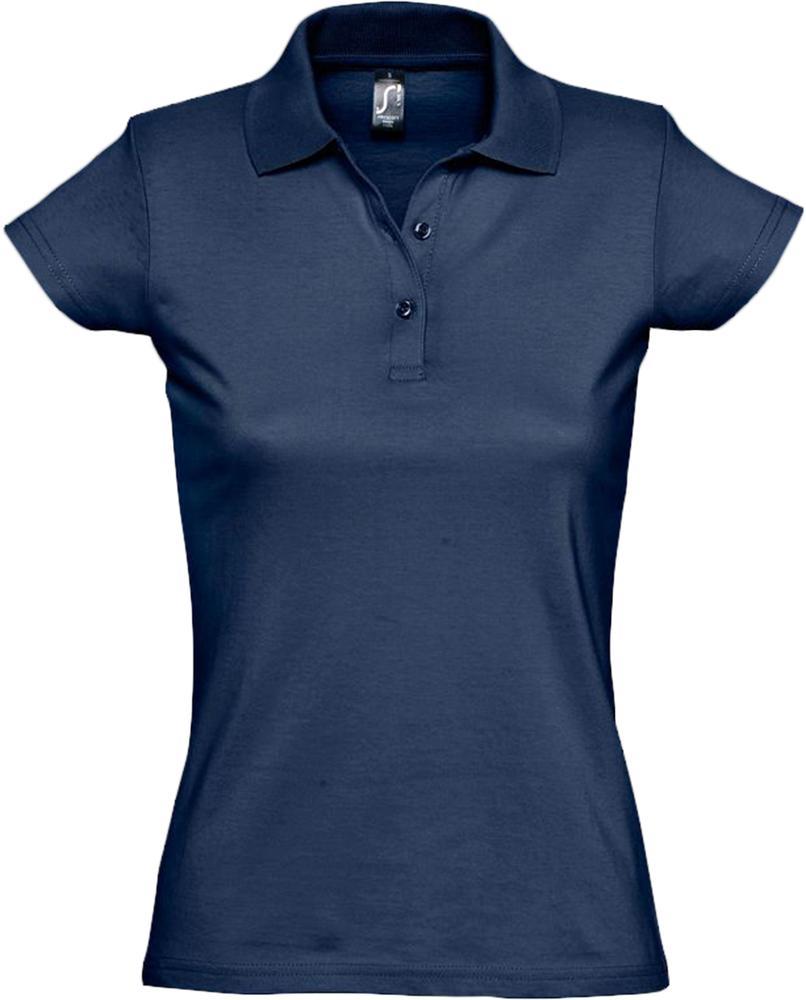 Рубашка поло женская Prescott women 170 темно-синяя, размер XXL куртка женская oodji ultra цвет темно бежевый 10203059 1 32754 3500n размер 36 42 170