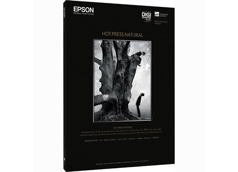 Фото - Epson Fine Art Paper Hot Press Natural A2, 330 г/м2, 25 листов (C13S042322) epson fine art paper hot press natural 60 300 г м2 1 524x15 м 76 мм c13s042326